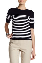 Premise Studio Elbow Length Sleeve Striped Sweater Petite Multi