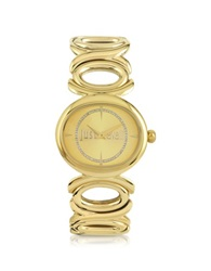 Just Cavalli Double Jc 2H Champagne Dial Gold Stainless Steel Women's Watch