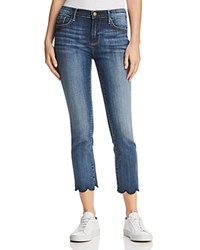 Aqua Cropped Scallop Hem Jeans In Indigo 100 Exclusive