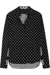 Stella Mccartney Printed Silk Crepe De Chine Shirt Black
