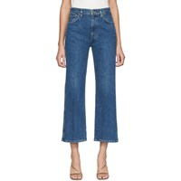 Gold Sign Goldsign Blue Cropped High Rise Jeans