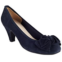 John Lewis Annabelle Block Heeled Court Shoes Navy Suede