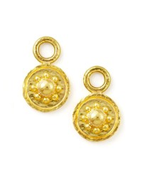 19K Gold Daisy Disc Earring Pendants Elizabeth Locke