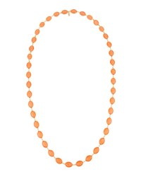 Emily And Ashley Long Oval Crystal Necklace Pink