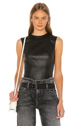 Rta Claire Leather Bodysuit In Black. Nightlife 2