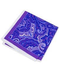 Club Room Men's Paisley Pocket Square Only At Macy's Purple
