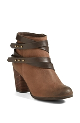 Bp 'Train' Wrap Belted Bootie Women Chocolate Chocolate