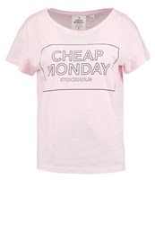 Cheap Monday Have Print Tshirt Pastel Pink Rose