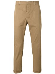 Marni Slim Fit Cropped Chinos Brown