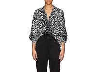 Givenchy Leopard Pattern Silk Tunic Black