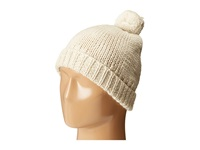 Hat Attack Mini Pom Slouchy Oatmeal Knit Hats Brown