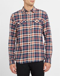 Wrangler Red And Navy Checked Western Shirt