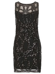 Tenki Sequin Embellished Lace Party Dress Black