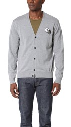 Ami Alexandre Mattiussi Patch Cardigan Grey