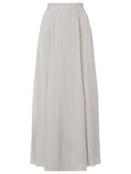 Phase Eight Lucinda Silk Maxi Skirt Silver