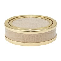 Aerin Colette Croc Leather Coaster Fawn Set Of 4