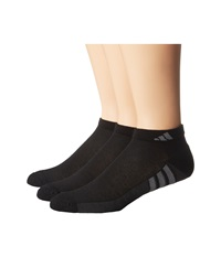 Adidas Climacool Superlite 3 Pair Low Cut Sock Black Graphite Medium Lead Men's Low Cut Socks Shoes