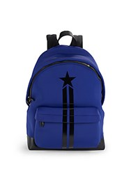 Givenchy Star And Stripes Leather Trimmed Backpack Blue