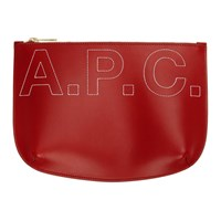 A.P.C. Red Embroidered Logo Sarah Pouch