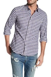 Timberland Long Sleeve Button Down Slim Fit Shirt Blue