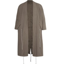 Wooster Lardini Cotton Ripstop Parka Taupe
