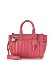 Zadig And Voltaire Xs Candide Rose Leather Satchel Bag Fuchsia