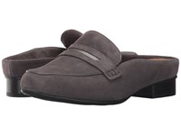 Clarks Keesha Donna Dark Grey Suede Women's Clog Shoes Gray