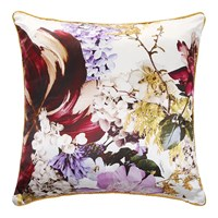 Roberto Cavalli Floris Silk Bed Cushion 001 Multi