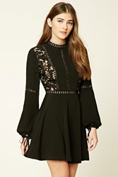 Forever 21 Crochet Overlay Mini Dress