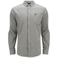 Lyle And Scott Vintage Men's Long Sleeve Flannel Overshirt Graphite Grey