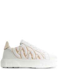 Casadei Chain Embossed Low Top Sneakers 60