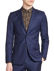 J. Lindeberg Notch Lapel Wool Sportcoat Blueberry