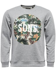 Only And Sons Elton Crew Neck Sweatshirt Grey