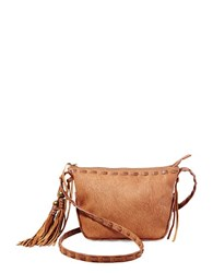 Steve Madden Camille Tassel Fringed Shoulder Bag Tan