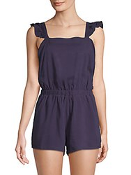 Lucca Couture Khloe Sleeveless Romper Navy