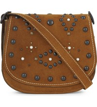 Coach Western Rivet 23 Suede Saddle Bag Bp Ginger