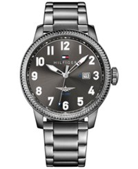 Tommy Hilfiger Men's Casual Sport Gray Ion Plated Bracelet Watch 42Mm 1791313 Grey