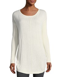 Chelsea And Theodore Center Stitched Pullover Sweater Ivory