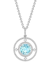 Kiki Mcdonough Lola Diamond And Blue Topaz Pendant Necklace