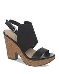 Naya Platform Sandals Misty Two Piece Cork High Heel Black