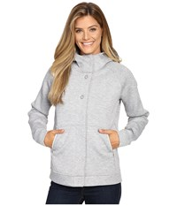 The North Face Neo Thermal Snap Hoodie Tnf Light Grey Heather Women's Sweatshirt Gray