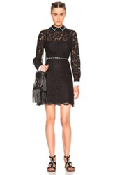Valentino Studded Collar Mini Dress In Black
