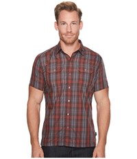 Kuhl Responsetm Molten Lava Short Sleeve Button Up Red
