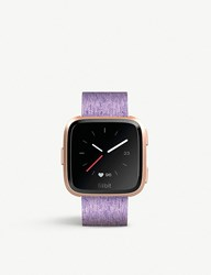 Fitbit Versa Smartwatch In Special Edition Lavender Woven