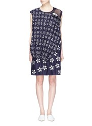 Ms Min Butterfly Floral Jacquard Deconstructed Layered Dress Multi Colour