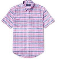 Polo Ralph Lauren Slim Fit Button Down Collar Checked Cotton Shirt Multi