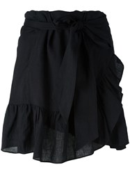Etoile Isabel Marant Ruffled Mini Skirt Black