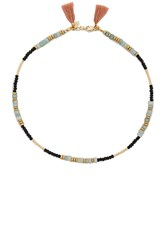 Shashi Farrah Gemstone Wrap Metallic Gold