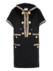 Moschino Jersey Hooded Sweater Dress