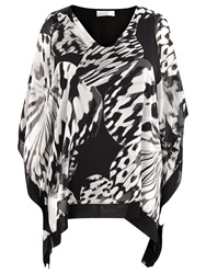 Windsmoor Windmoor Butterfly Print Chiffon Tunic Black